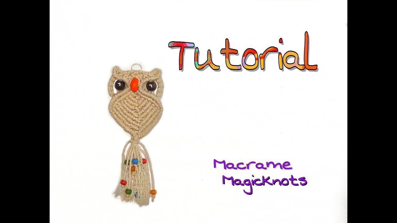 Macrame Owl ♥ Makramee Eule ♥ Búho ♥ Макраме сова ♥ DIY ...