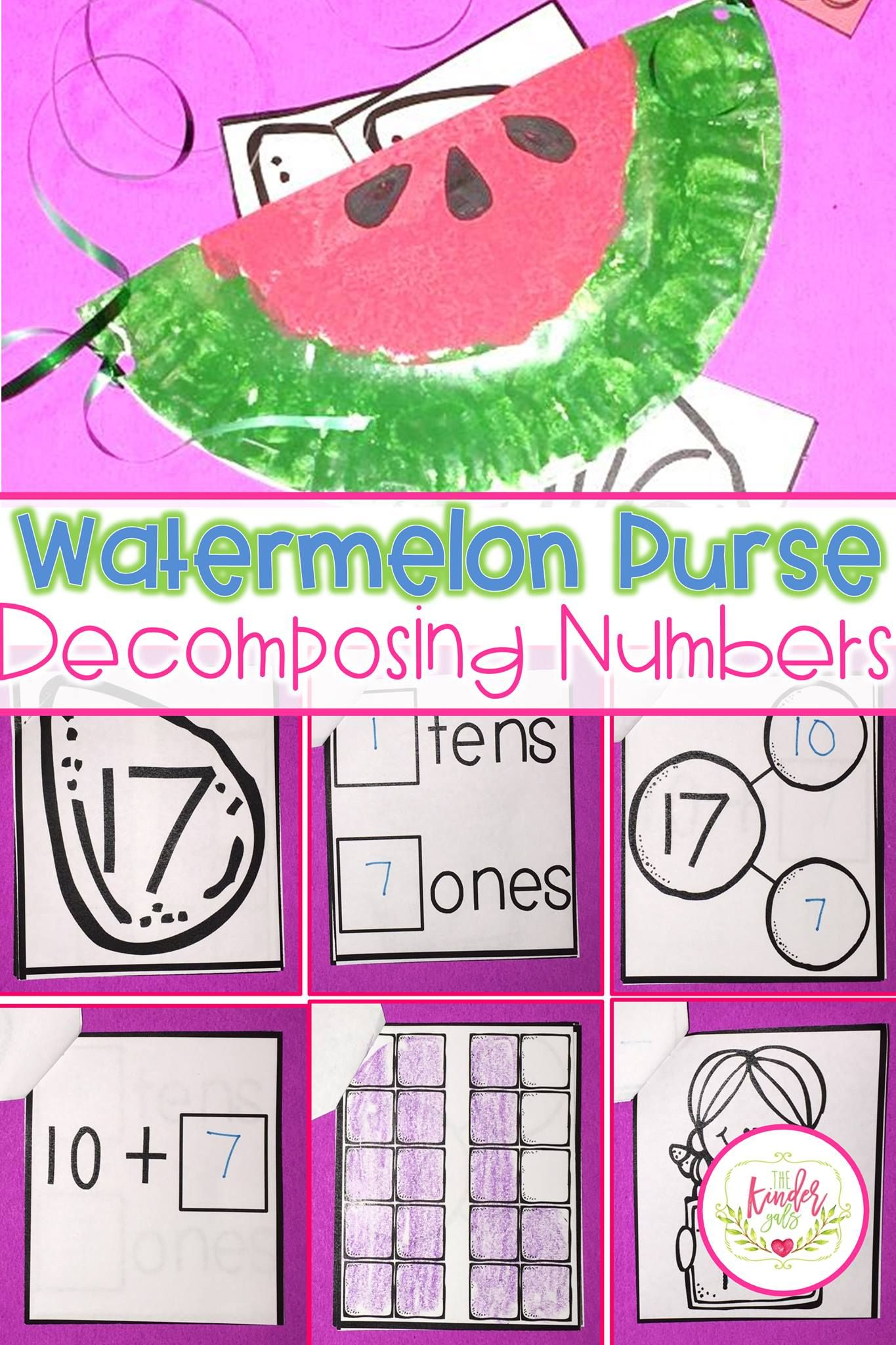 Watermelon Purse Activity For Decomposing Numbers Kindergarten Math Lesson Ideas Small Group Math Activities Small Group Math Kindergarten Math Lesson [ 2048 x 1365 Pixel ]