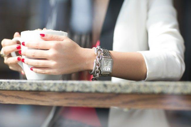 MICHELE Deco 16 Diamond Dial Bracelet Watch