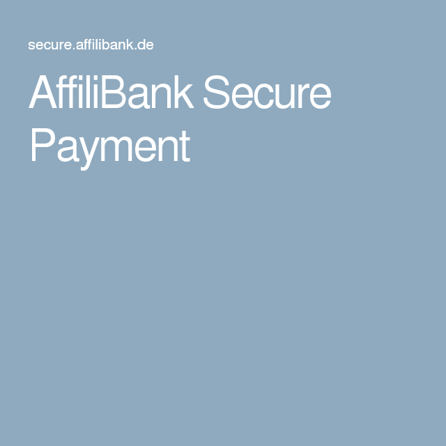 AffiliBank Secure Payment