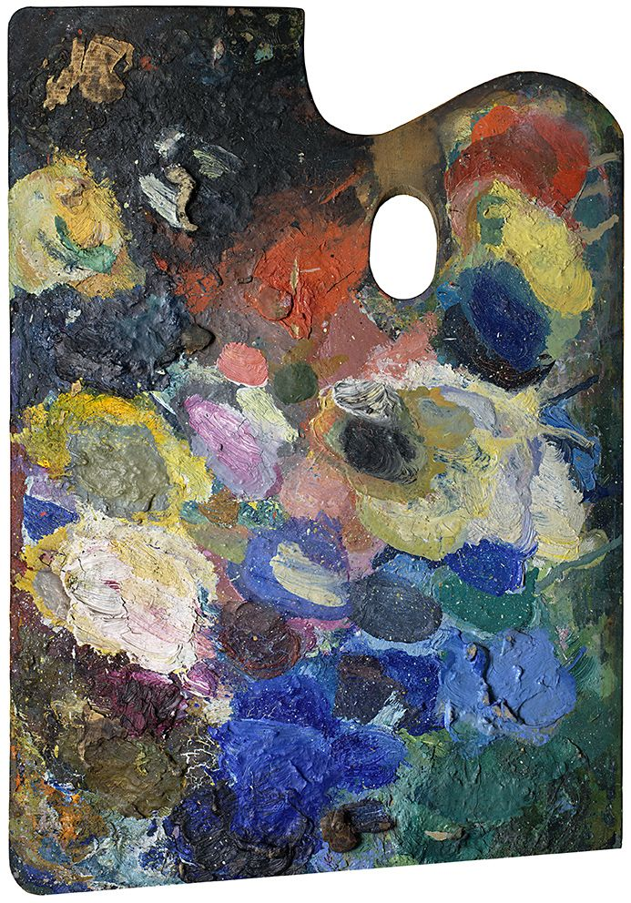 Wassily Kandinsky's palette of  by Matthias Schaller.