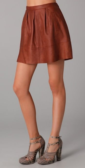 madewell leather belltoll skirt