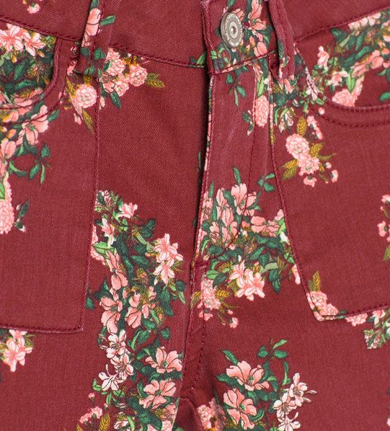 Image 5 of Floral trousers from Zara