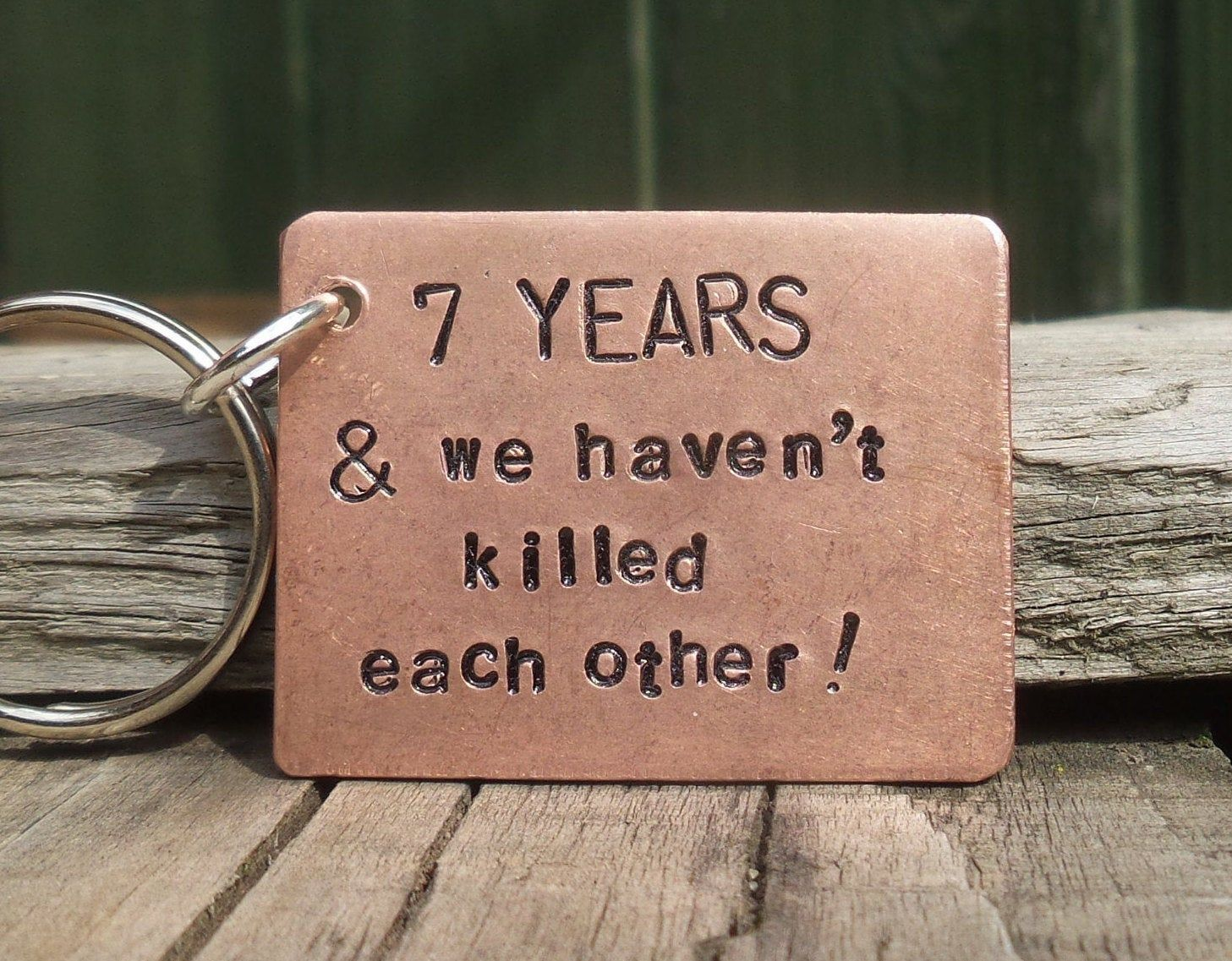 7 years and we havent killed each other copper 7th etsy