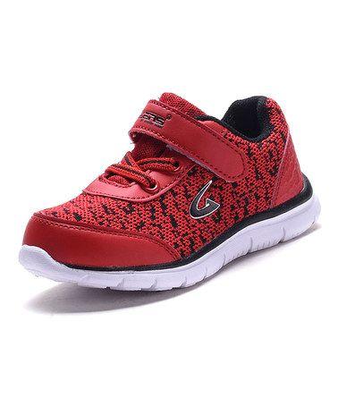 Red & Black Sneaker #zulily #zulilyfinds
