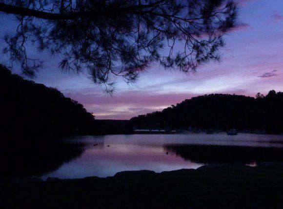 Dawn on Sydney's Pittwater