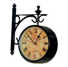 Tu Casa Rust Black 6 inch Victorian Station Clock  At Rs.899