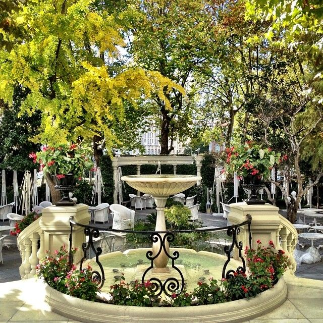 Take a moment to relax in a secret garden in #Madrid. Photo courtesy of yourlandmyland on Instagram at the Ritz, Madrid.