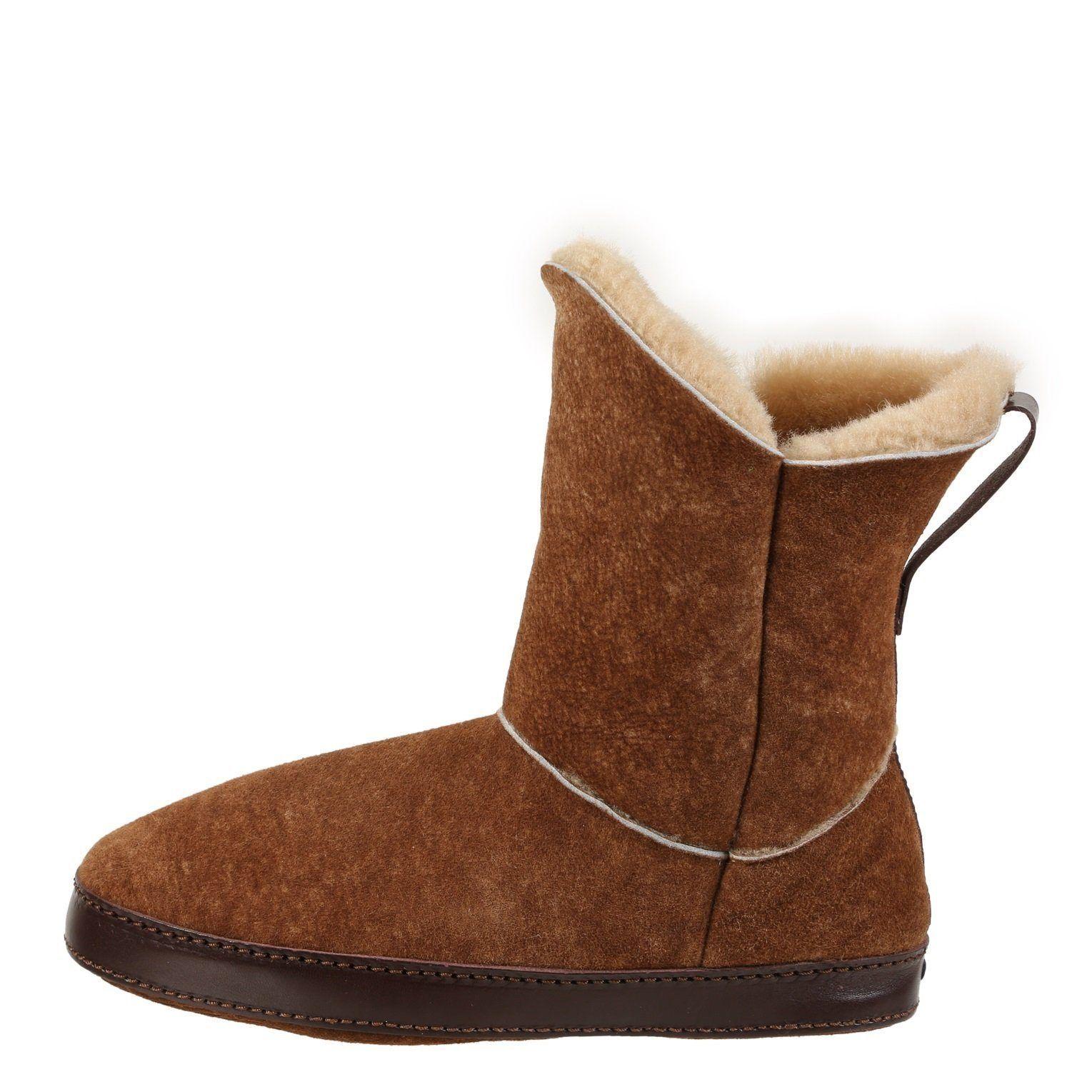 Gemma Stone Washed Cognac Slipper Boot - 9