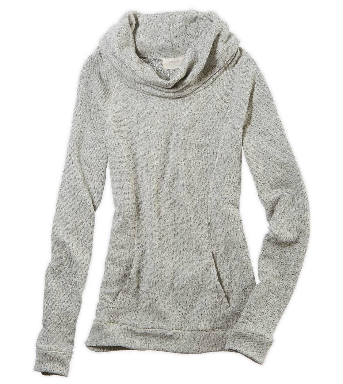 Aerie Cowl Neck Sweatshirt | My Style | Pinterest | Heather grey ...
