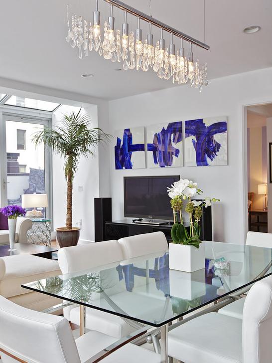 Cobertura iluminada em Nova York | Deko | Pinterest | Esszimmer ...