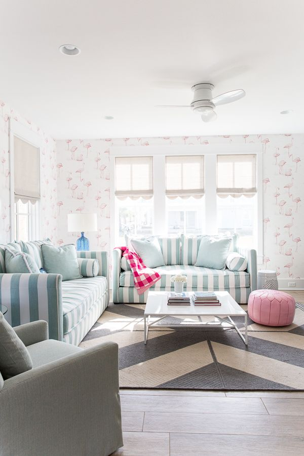 COASTAL LIVING 2015 SHOWHOUSE: Den & Powder Rooms Before & After - Peppermint Bliss