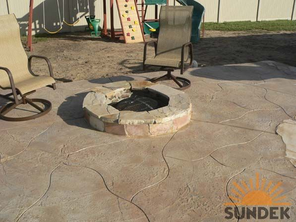 Sierra Concrete Resurfacing Features This Beautiful Stamped Concrete Patio  In Sacramento, CA.