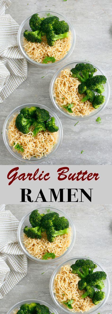 Crazy Good Garlic butter Ramen Noodles - Kitchen @ Hoskins -  | ramen recipe | garlic butter noodle