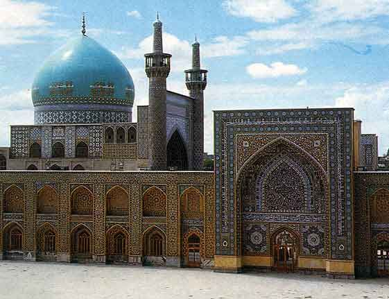 Masjid i Shah Mosque. Built in 1598 in Isfahan, Iran. The dome is 177 ft (54 m) high.
