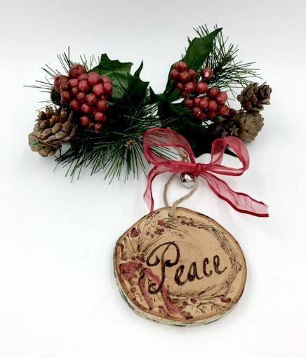Wreath Ornaments Rustic Christmas Ornament Set Wooden Woodburnedornaments Christmasornsments Ornanentset Gifts Handmadeornaments