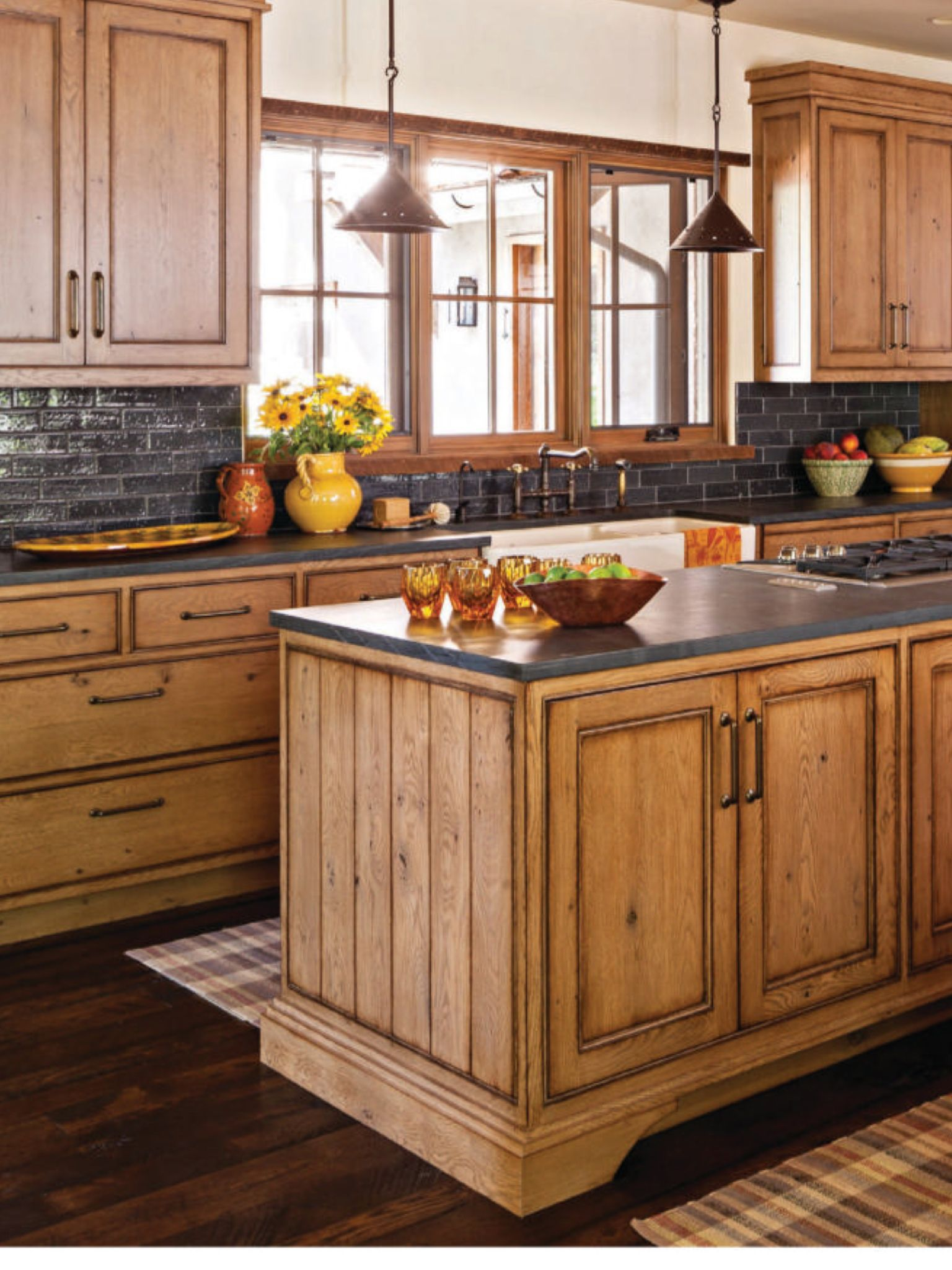 glazed tile backsplash and black countertops updated kitchen kitchen island table black on kitchen decor black countertop id=57501