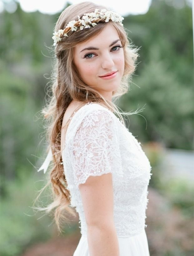 Haare lässige romantische Hochzeitsfrisuren Ideen