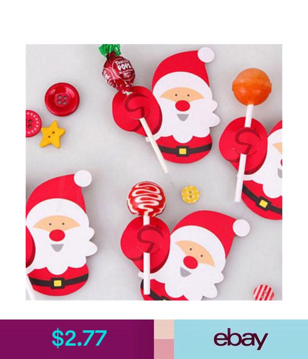 Balloons Decorations 50pcs Christmas Paper Candy Chocolate Lollipop Sticks Cake Pops Xmas Decor Party Eba Manualidades Navidenas Arte De Navidad Manualidades