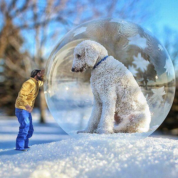 Christopher Cline & His Dog Juji