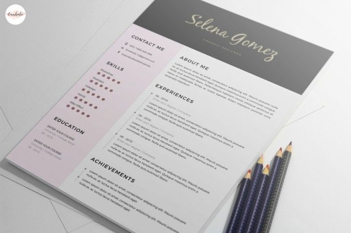 Professional CV and Cover Letter template By Emaholic Templates CV