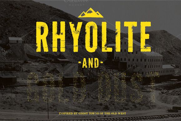 Rhyolite + Gold Dust Fonts by Once Blind Studios on Creative Market