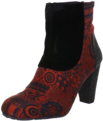 Noir Desigual Femme Chaussures Bottines Indian Folk Est Unique