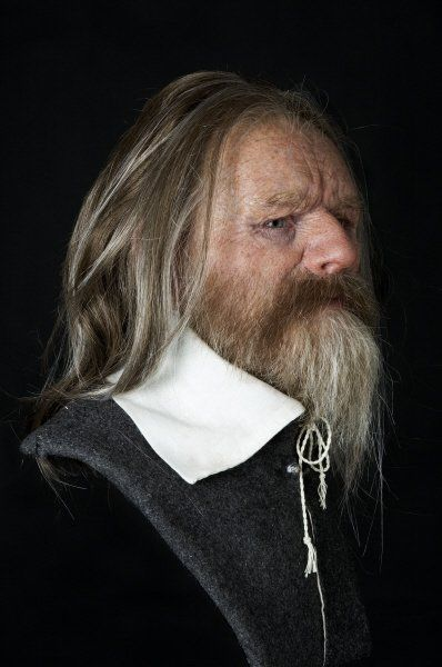 Forensic facial reconstruction of one of the seamen from the ill fated Vasa by Oscar Nilsson