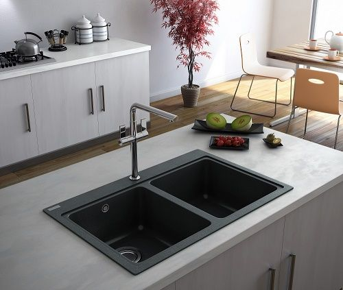modernise with a black kitchen sink from Caple Kitchen Appliances ...