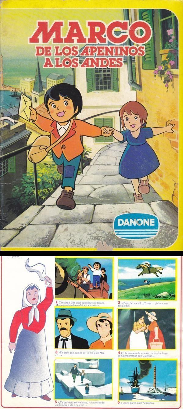 Album De Cromos De Marco De Los Apeninos A Los Andes De Danone Dibujos Animados Clasicos Dibujos De La Infancia Cromos
