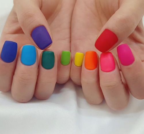 We Have 60 Ideas For Your Rainbow Nails Please Dress Up It In The New Season Rainbownails Springnails Rainbow Nails Design Rainbow Nails Colorful Nail Designs