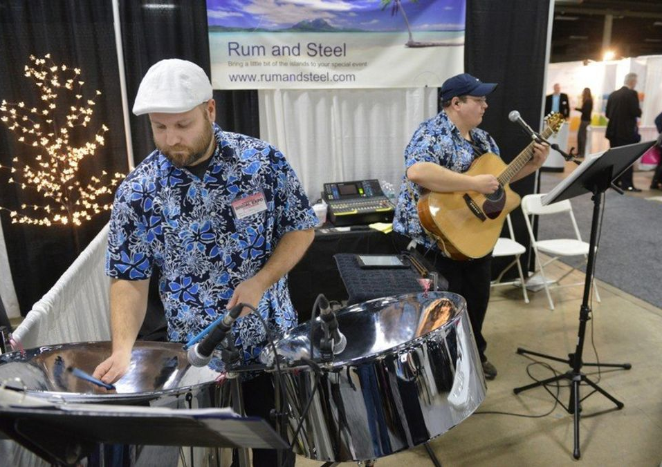 Rum And Steel Is A Steel Drum Guitar Duo Based Out Of Springfield Ma Bridal Expo Banquet Facilities The Big E