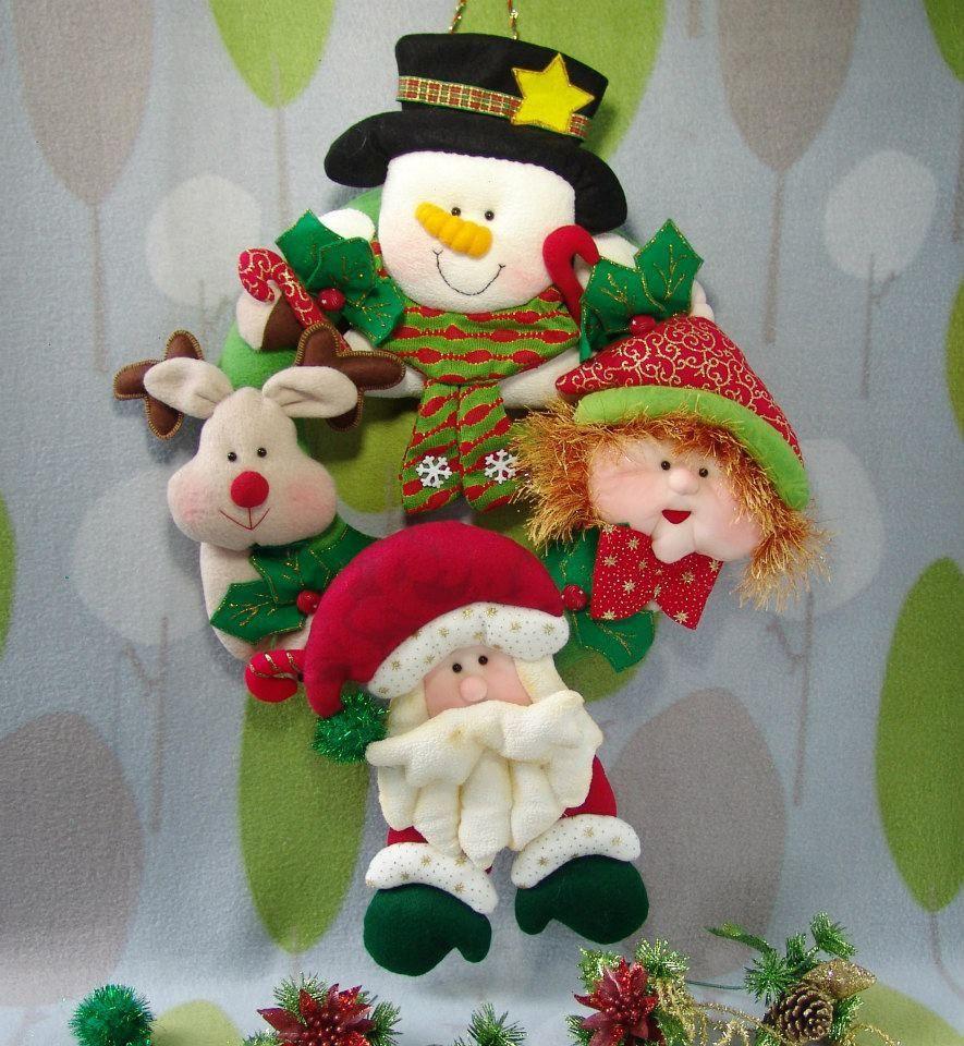 muecos de navidad tela navidad fieltro navidad coronas navideas adornos navideos bricolaje motivos navideos moldes arreglos navideos
