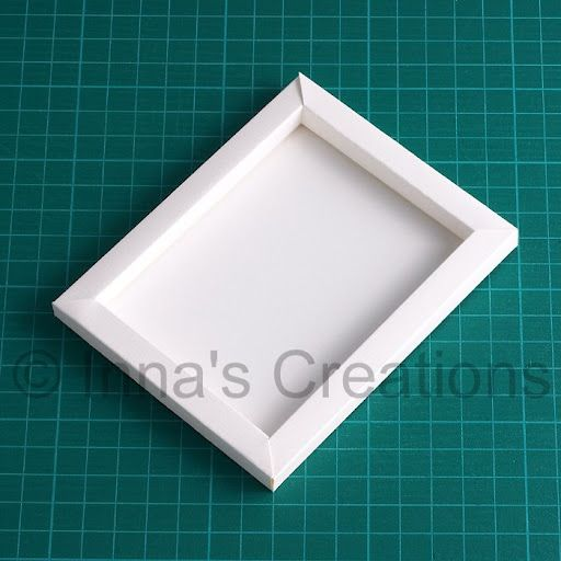 Inna S Creations How To Make A Simple Paper Frame Paper Picture