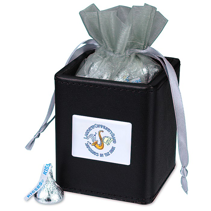 Your logo looks lovely on this gift set! Hershey kisses