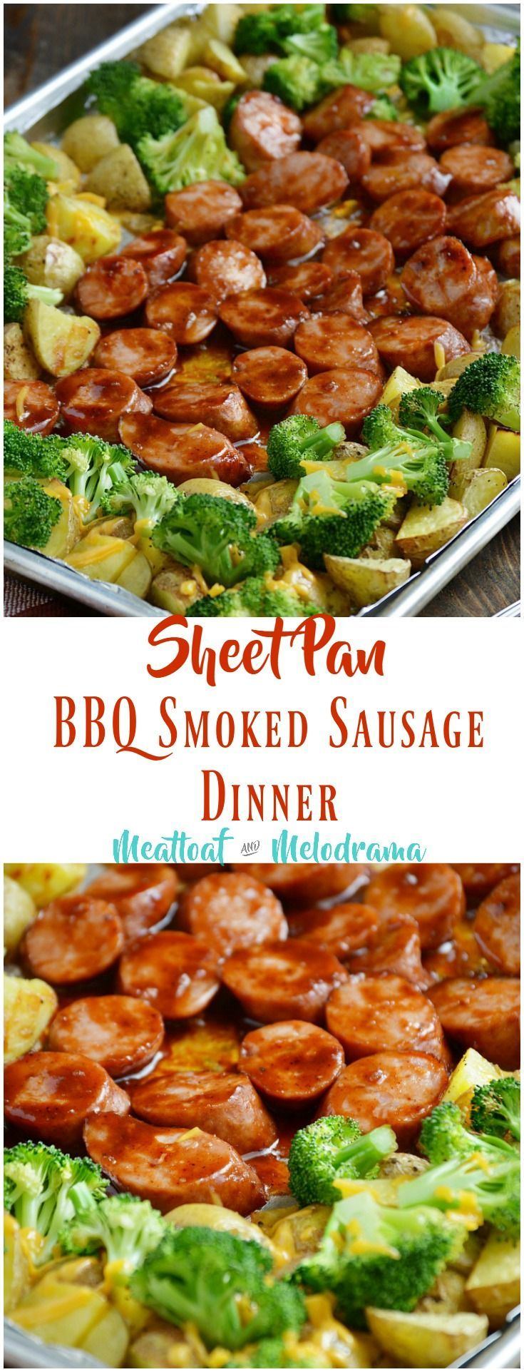 Photo of Sheet Pan BBQ Smoked Sausage Dinner – Meatloaf and Melodrama