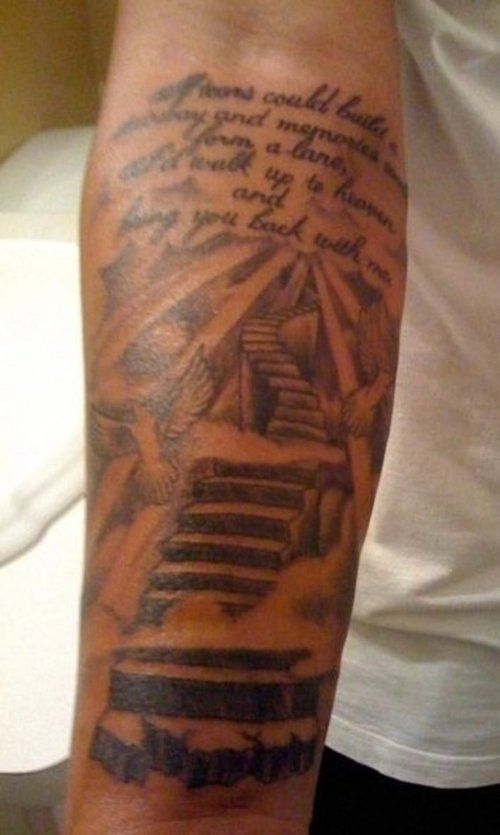 I Reallllllyyy Want A Half Sleeve For Trent Maybe Something Similar To This Stairway To