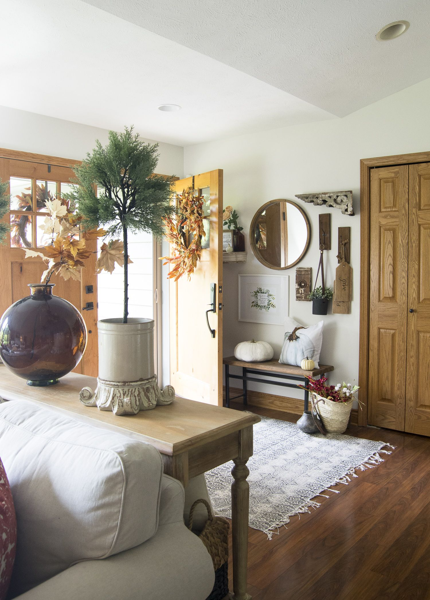 Simple Porch & Entryway Fall Decor images