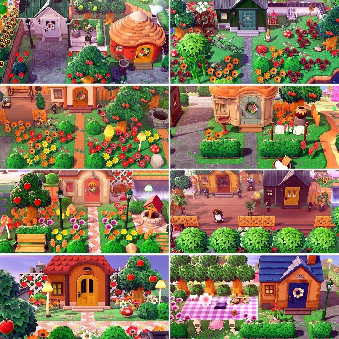 Alice Of Jelly Bean Island On Instagram All Ten Villagers Houses Together A In 2021 Animal Crossing Wild World Animal Crossing Memes Animal Crossing