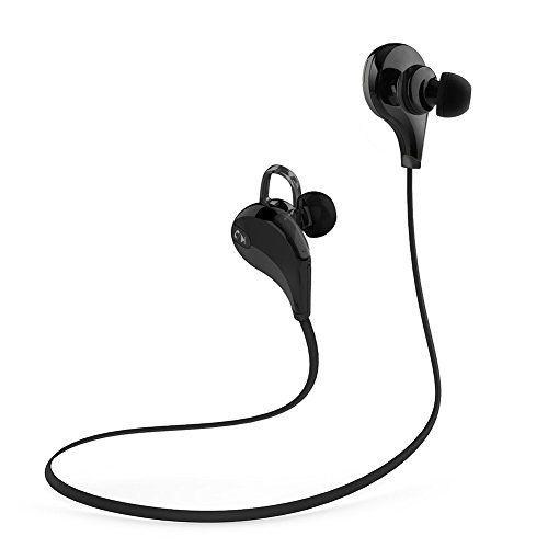 46bd0e5c620 WSCSR Bluetooth Headphones Sport Wireless Earbuds In-Ear Stereo Earphones  with Mic, CVC 6.0