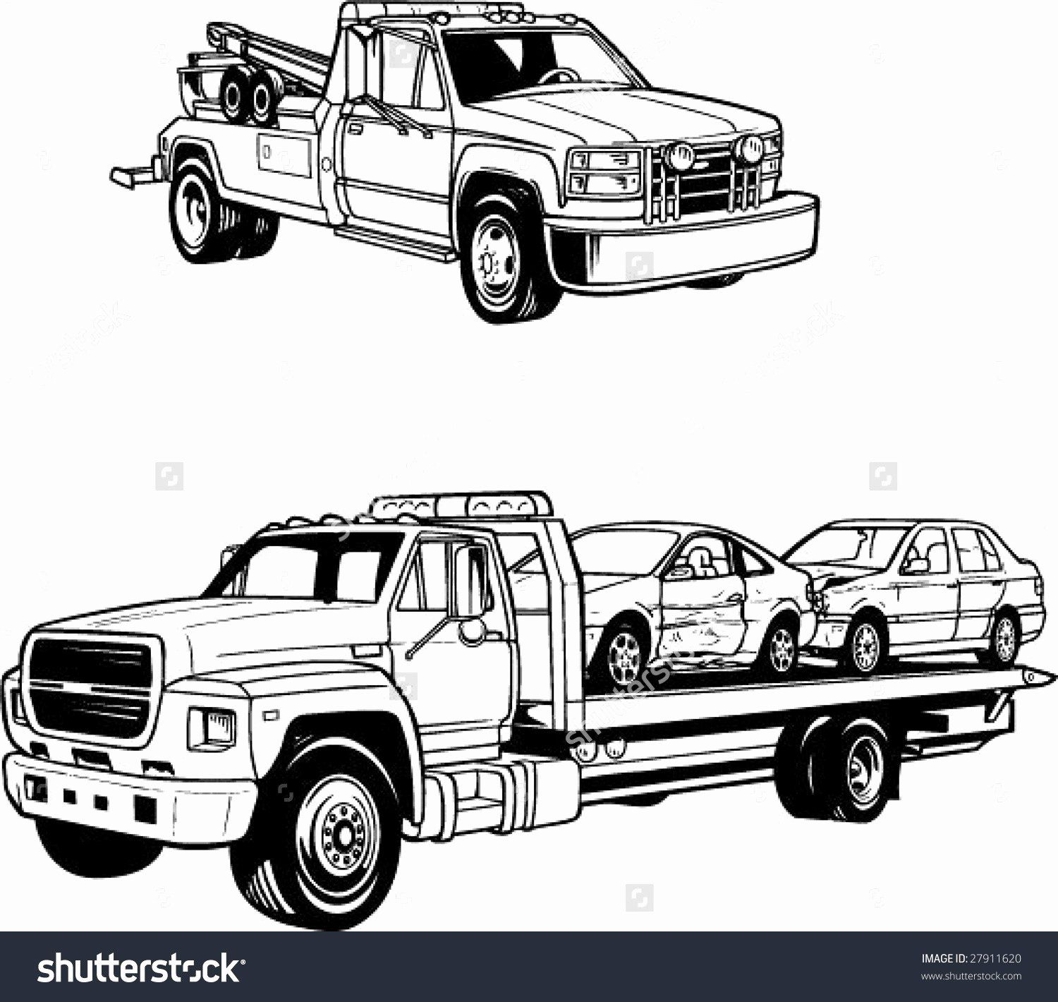 Truck Coloring Pages For Adults Truck Coloring Pages Tow Truck