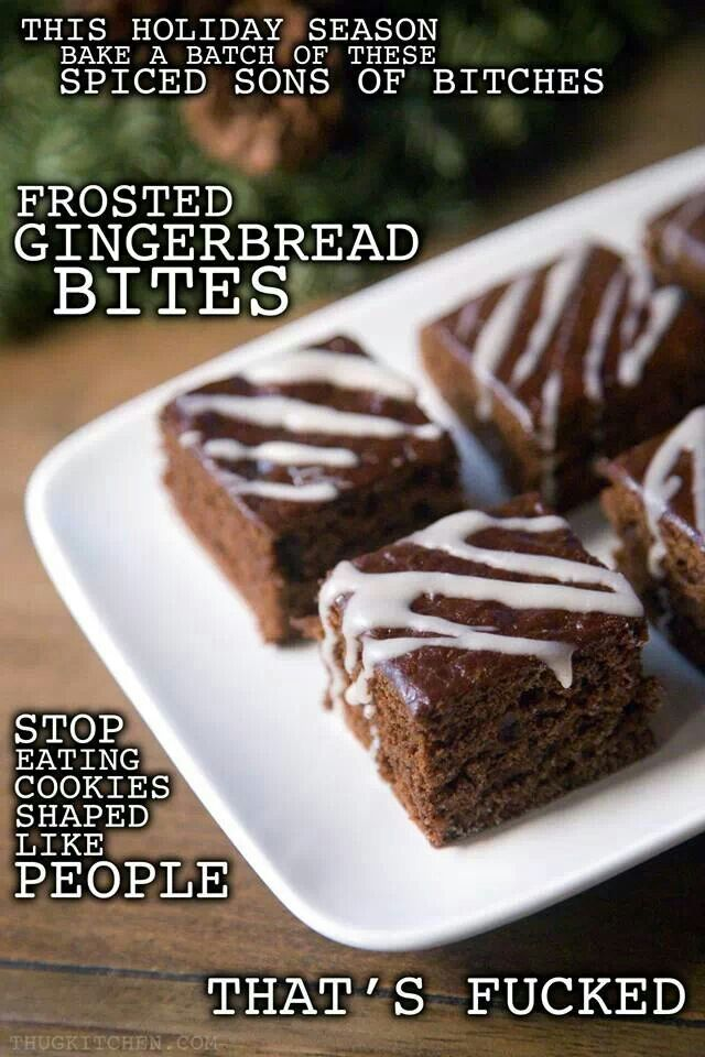 Frosted Gingerbread Bites from Thug Kitchen