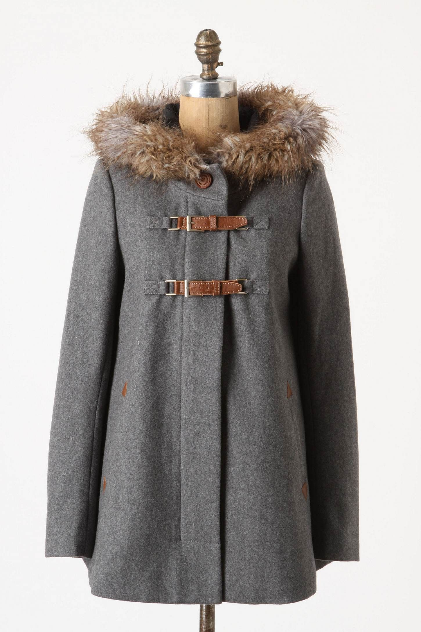 Winter coat with fur lined hood