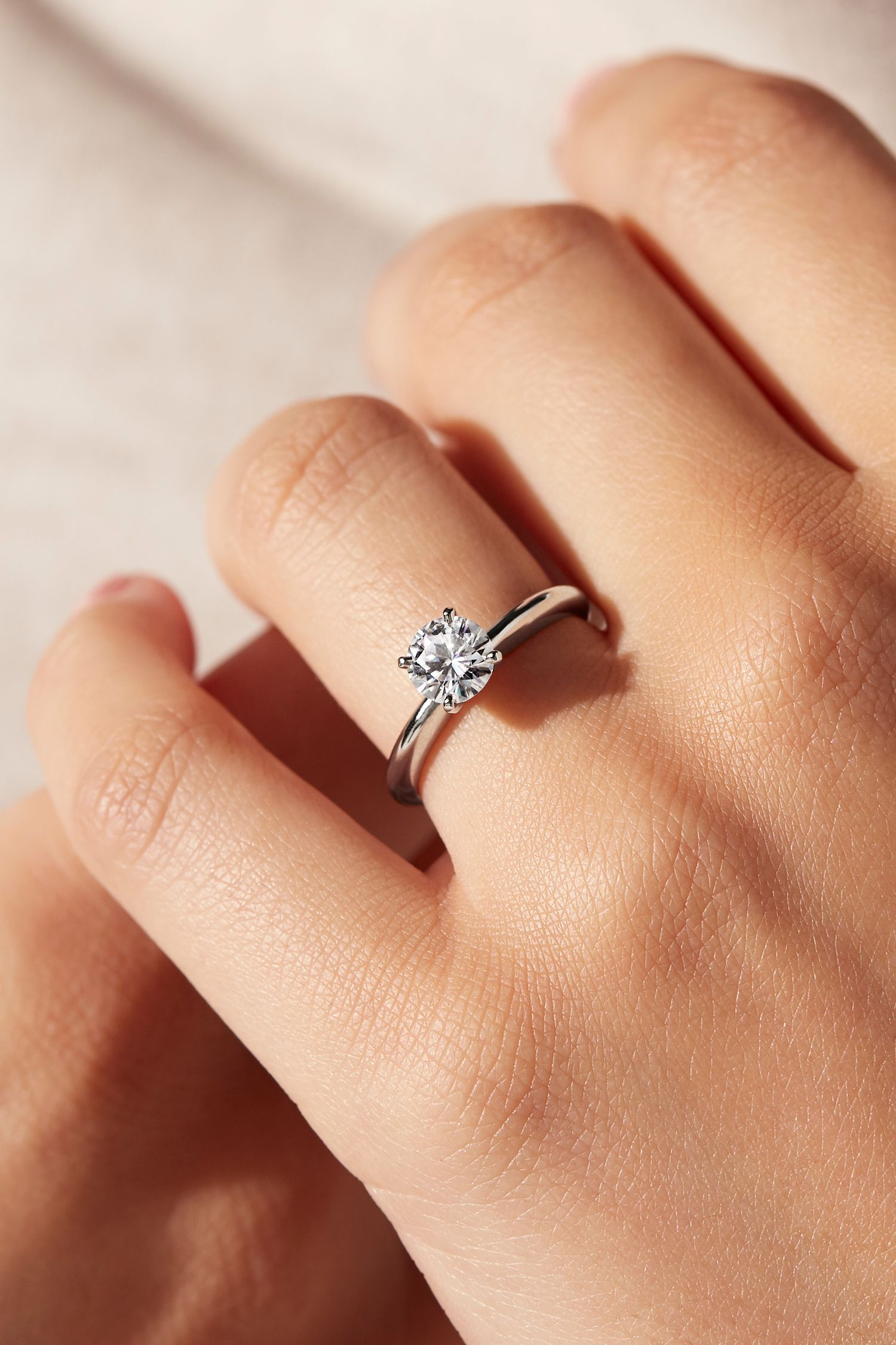 Let Your Diamond Shine Brilliantly In This Classic Platinum Four Prong Solitaire E In 2020 Small Engagement Rings Small Wedding Rings Classic Engagement Ring Solitaire
