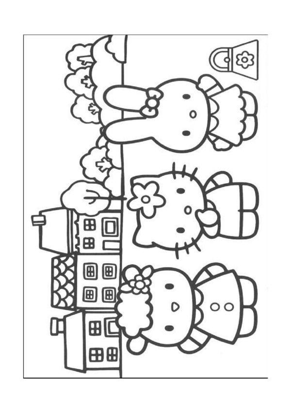 Ausmalbilder Hello Kitty 8 | Ausmalbilder comic | Pinterest ...