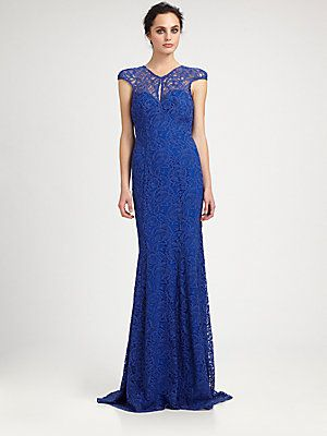 ML Monique Lhuillier Lace Gown | prom | Pinterest | Monique ...