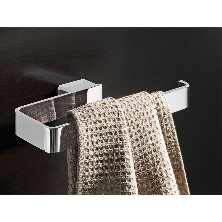 Square Polished Chrome Towel Ring Towel Rings Modern Towel Bars Polished Chrome