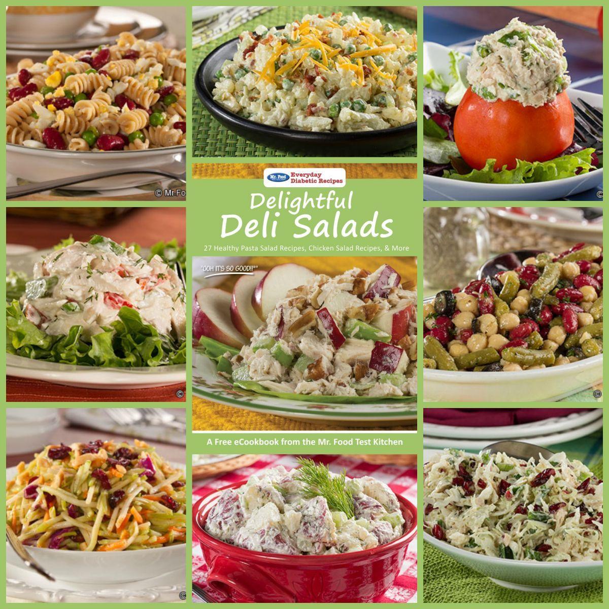 Everydaydiabeticrecipes Com: Delightful Deli Salads Free ECookbook