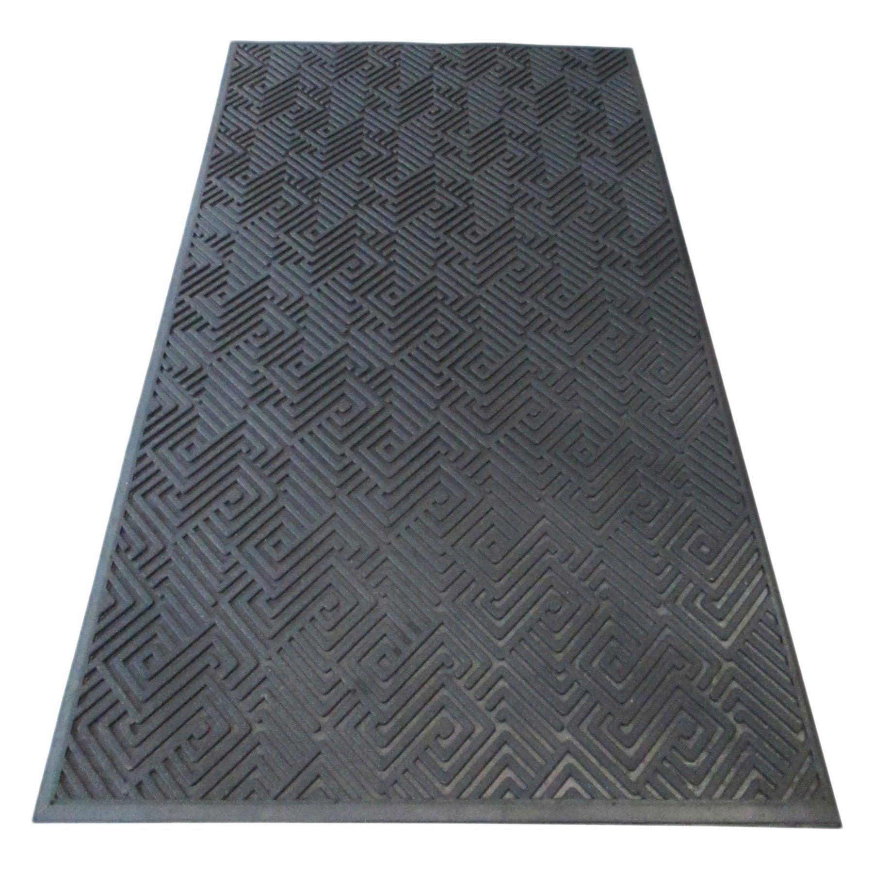 A1 Home Collections Maze Natural Rubber Scraper Doormat A1hcsm10 Maze Design Door Mat Natural Rubber