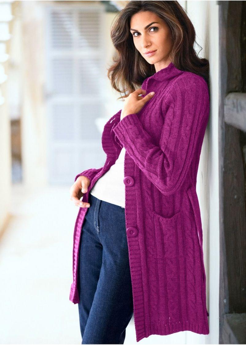 Красивые вязаные кардиганы спицами для женщин: схемы и ...